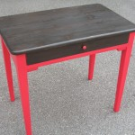 Petite table framboise/wengué