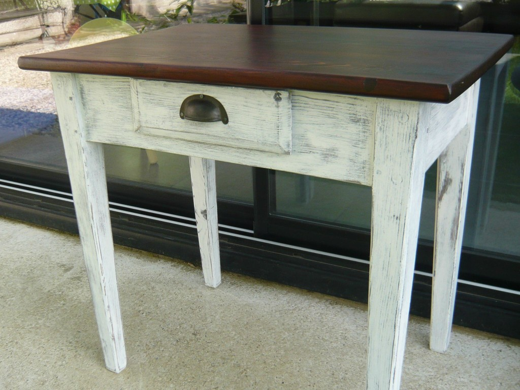 Petite table bois blanc veine de meubles - Petite table en bois ...