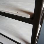 Etagères larges fer/bois