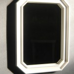 Miroir hêtre satin blanc