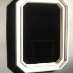 Miroir hêtre satiné blanc