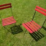 Chaises de jardin pliantes. Résistantes aux intempéries