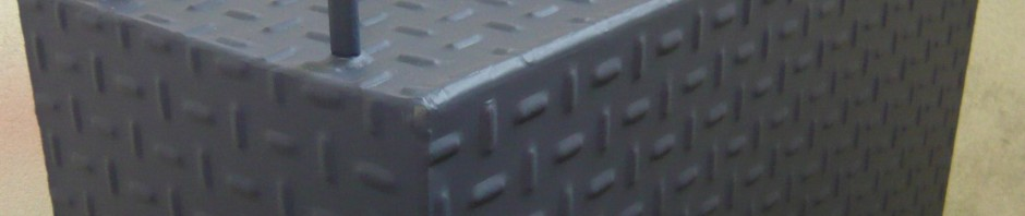 Tabouret métal rectangle
